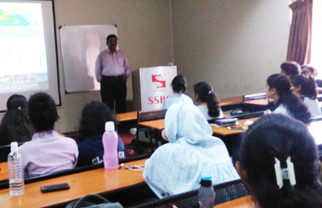 Guest lecture by Dr. R. Manivanan, Scientist B