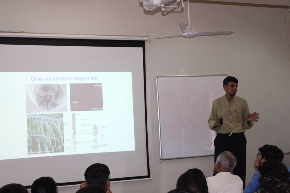 Guest lecture by Dr. Hemant Badgandi, Senior lecturer, Vanderbilt University, Nashville, USA on  Selective membrane protein trafficking in signalling, development and disease- 4th July 2019