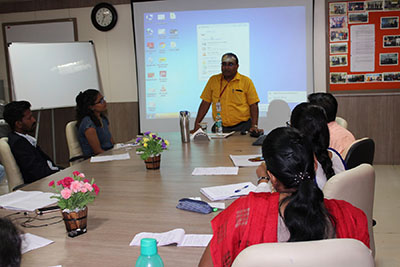 Dr. Sanjay Pohekar, Head-Research Programmes SCRI, delivering lecture during 1st Ph.D. Coursework of FoHS- October 14-18, 2019