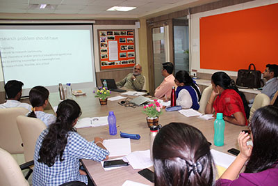 Dr. Yogesh Shouche, Principal Investigator, Scientist 'G , (NCMR), (NCCS), Pune during his lecture at 1st Ph.D. Course work of FoHS