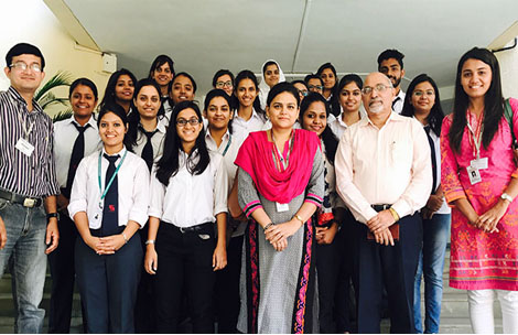 Student's visit to Cipla Palliative Care and Training Centre