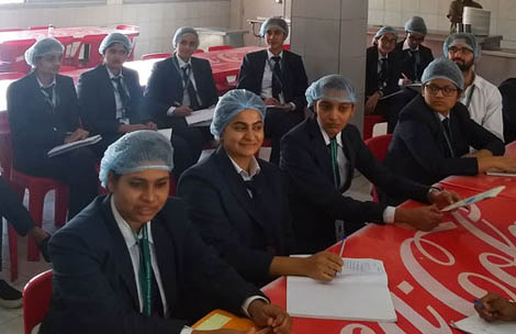 Student's visit to Coca-Cola Beverages Bottling Plant