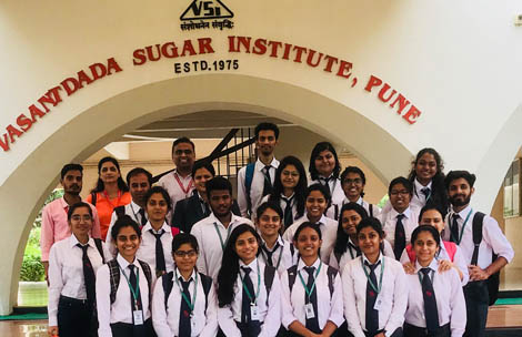 Student's visit to Vasantdada Sugar Institute
